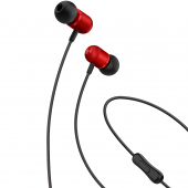 Handsfree Casti In-Ear XO Design EP5, Cu microfon, 3.5 mm, Rosu, Blister