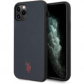 Husa TPU U.S. Polo Wrapped pentru Apple iPhone 11 Pro Max, Bleumarin USHCN65PUNV