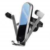 Suport Auto Universal Baseus pentru Telefon, Penguin Gravity, Argintiu SUYL-QE0S
