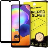 Folie Protectie Ecran WZK pentru Samsung Galaxy A31, Sticla securizata, Full Face, Full Glue, Neagra, Blister