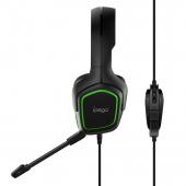 Casti Gaming iPega PG-R006, Cu microfon, Over-Ear, Negre Verzi