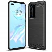 Husa TPU OEM Carbon pentru Huawei P40 Pro, Neagra, Bulk