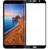 Folie Protectie Ecran OEM pentru Xiaomi Redmi 7A, Sticla securizata, Full Face, Full Glue, 9D, Neagra, Blister