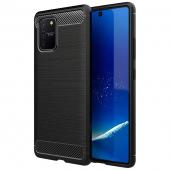 Husa TPU OEM Carbon pentru Samsung Galaxy S10 Lite G770, Neagra