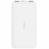 Baterie Externa Powerbank Xiaomi Redmi PB100LZM, 10000 mA, Standard Charge 5V, 2 x USB, Alba