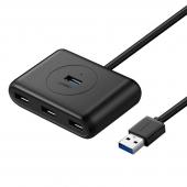 Hub USB 3.0 UGREEN, 4 x USB, Negru, Blister