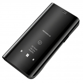 Husa Plastic OEM Clear View pentru Huawei Y5p, Neagra