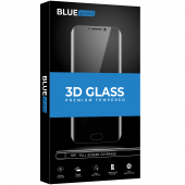 Folie Protectie Ecran BLUE Shield pentru Huawei P40 lite, Sticla securizata, Full Face, Full Glue, 0.33mm, 9H, 3D, Neagra
