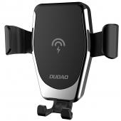 Incarcator Auto Wireless Dudao Gravity Air Vent F3Plus, Fast Charge, 10W, Negru, Blister