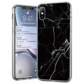 Husa TPU WZK Marble pentru Samsung Galaxy Note 9 N960, Neagra, Blister