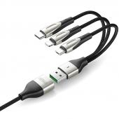 Cablu Incarcare USB - Lightning / USB Type-C / MicroUSB Joyroom S-M411, 1.5 m, Negru