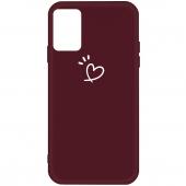 Husa TPU OEM Antisoc pentru Samsung Galaxy A51 A515, Heart, Visinie, Bulk