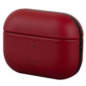 Husa piele pentru Apple Airpods Pro Uniq Terra, Rosie, Blister