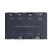 Organizator SIM / Card Memorie UNIQ Traveller, 7in1, Gri, Bilster