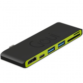 Hub USB Type-C Multifunctional Goui Hubi C, 6 Interfete, Negru G-HUB6PORT