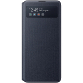 Husa TPU Samsung Galaxy Note 10 Lite N770, S View Wallet, Neagra, Blister EF-EN770PBEGEU