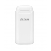 Suport Dock Incarcare Pitaka Air Pal Essential pentru Apple Airpods Gen 1 / Gen 2, Wireless, 1200mA, Alb AP1002