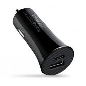 Incarcator Auto USB Pitaka Smart Car, Quick Charge 3 + Power Delivery, 36W, 1 X USB - 1 X USB Tip-C, Fibra Aramida, Negru, Blister CA2001