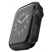 Husa Fibra Aramida Pitaka Air Case pentru Apple Watch Series 6 / SE / 4 / 5 40mm, Neagra KW1001A