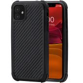 Husa Fibra Aramida Pitaka MagEZ Case Pro pentru Apple iPhone 11, Car Case Magnet, Tesatura diagonala (Twill), Neagra Gri KI1101RP