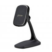 Incarcator Retea Wireless Pitaka MagMount Ebony, Fast Wireless (10W / 7.5W), Magnetic, Fibra Aramida, Negru, Blister DT1001B