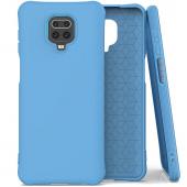 Husa TPU OEM Soft Color pentru Xiaomi Redmi Note 9 Pro / Xiaomi Redmi Note 9S, Albastra, Bulk