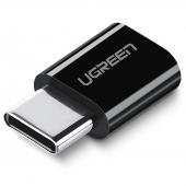 Adaptor conversie MicroUSB la USB Type-C UGREEN, Negru, Bulk