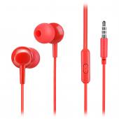 Handsfree Casti In-Ear HOCO M14, Cu microfon, 3.5 mm, Rosu, Blister