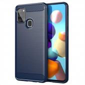 Husa TPU OEM Carbon pentru Samsung Galaxy A21s, Bleumarin, Bulk