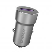 Incarcator Auto USB Dudao R4Pro, Quick Charge 3.0, VOOC, 5A, 1 X USB, Gri, Blister