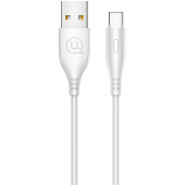 Cablu Date si Incarcare USB la USB Type-C Usams U18, 2A Fast Charge, 1 m, Alb, Blister SJ267USB02
