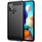 Husa TPU Forcell Carbon pentru Samsung Galaxy A21s, Neagra