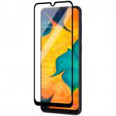 Folie Protectie Ecran OEM pentru Samsung Galaxy A20 A205 / Samsung Galaxy A30 A305 / Samsung Galaxy A50 A505, Sticla securizata, Full Face, Full Glue, 9D, Neagra, Blister