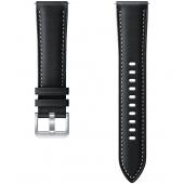 Curea ceas piele Galaxy Watch3, Latime 20mm, Marime S/M, Neagra, Blister  ET-SLR85SBEGEU