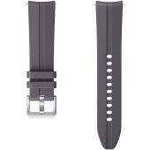 Curea ceas pentru Samsung Galaxy Watch Active / Galaxy Watch Active2 / Galaxy Watch3 41mm / Galaxy Watch 42mm / Gear Sport, Ridge Sport, Silicon, 20 mm, Gri ET-SFR85SJEGEU