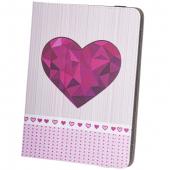 Husa Poliuretan GreenGo Heart pentru Tableta 9 - 10 inci, Multicolor, Bulk