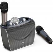 Boxa Bluetooth Dudao Y15 Karaoke, Wireless, 2 Microfoane, Lampa Disco, Neagra, Blister