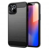 Husa TPU Forcell Carbon pentru Apple iPhone 12 Pro Max, Neagra