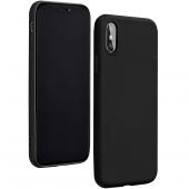 Husa TPU Forcell Silicone LITE pentru Apple iPhone X, Neagra, Bulk
