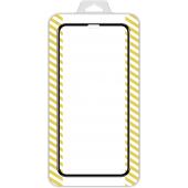 Folie Protectie Ecran OEM pentru Apple iPhone 12 Pro Max, Sticla securizata, Full Face, Full Glue, 5D, Neagra, Blister