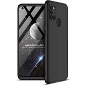 Husa Plastic GKK Full Cover pentru Samsung Galaxy A21s, Neagra, Bulk