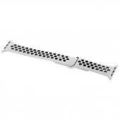 Curea Ceas Tactical 141 Double Silicone Band pentru Apple Watch Series 1 / 2 / 3 / 4 / 5 / 6 / SE (42/44mm), Alba Neagra, Blister