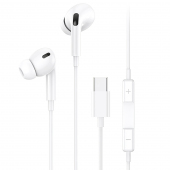 Handsfree Casti In-Ear Usams EP-41, Cu microfon, USB Type-C, Alb, Blister
