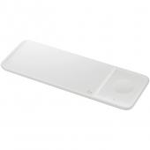 Incarcator Retea Wireless Samsung Trio EP-P6300, Pentru Telefon / Ceas / Casti QI, Fast Wireless, 9W, Alb EP-P6300TWEGEU