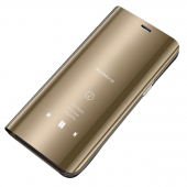 Husa Plastic OEM Clear View pentru Samsung Galaxy A01, Aurie, Blister