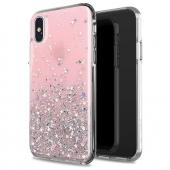 Husa TPU WZK Star Glitter Shining pentru Xiaomi Redmi 9, Roz, Blister