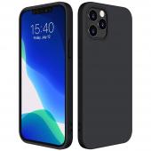 Husa TPU OEM Pure Silicone pentru Apple iPhone 12 / Apple iPhone 12 Pro, Neagra
