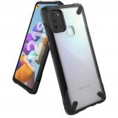 Husa TPU Ringke Fusion X pentru Samsung Galaxy A21s, Neagra, Blister FUSG0059