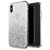 Husa TPU WZK Star Glitter Shining pentru Apple iPhone 12 Pro Max, Transparenta, Blister