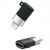 Adaptor OTG USB Type-C la Lightning XO Design NB149-D, Negru, Blister